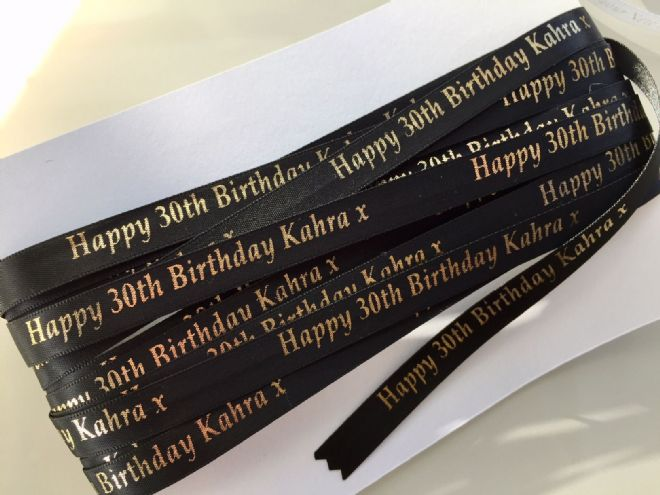 Printed Ribbon - Shop Now 10mm